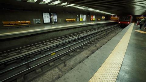 Gare do Oriente train station, Lisbon, Portugal Footage
