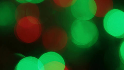Close-up of a flicker of colored lights. Christmas and new year lights twinkling Live Action