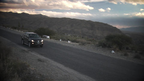 4x4 crossing Route in Argentina Live Action