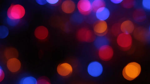 Rotating multicolored bokeh lights. Christmas and new... Stock Video Footage