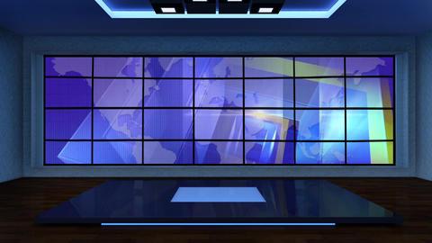 News TV Studio Set 281- Virtual Background Loop ライブ動画