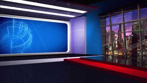 News TV Studio Set 282- Virtual Background Loop ライブ動画