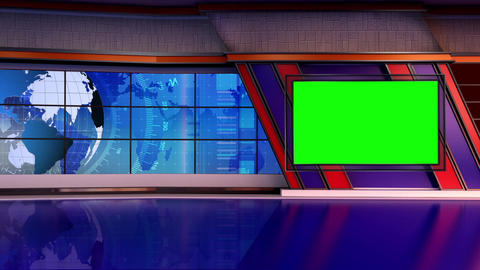 News TV Studio Set 294- Virtual Background Loop ライブ動画