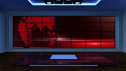 News TV Studio Set 295- Virtual Background Loop ライブ動画