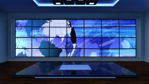 News TV Studio Set 298- Virtual Background Loop ライブ動画