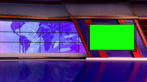 News TV Studio Set 300- Virtual Background Loop ライブ動画