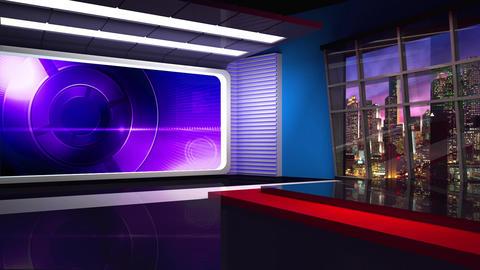 News TV Studio Set 305- Virtual Background Loop ライブ動画