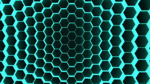 hexagons background loop corporate Image