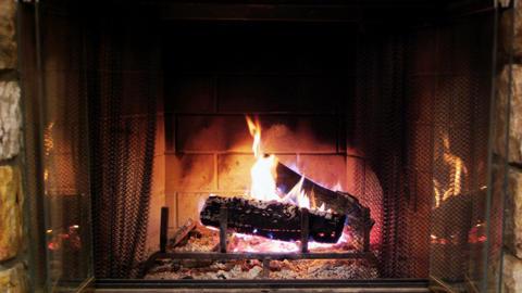 Cozy fireplace Footage