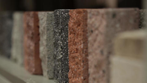 Samples of concrete differ in color Footage