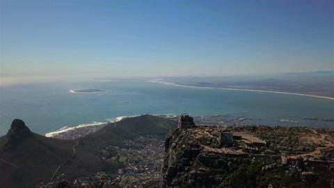 Aerial Table Mountain Top Footage