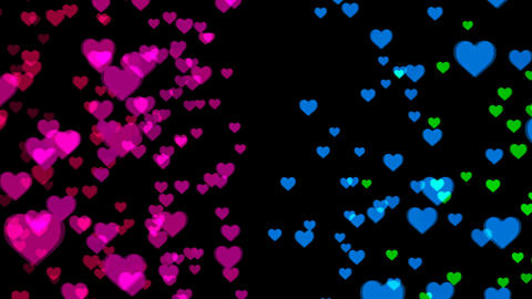 Abstract background with colorful hearts Live Action