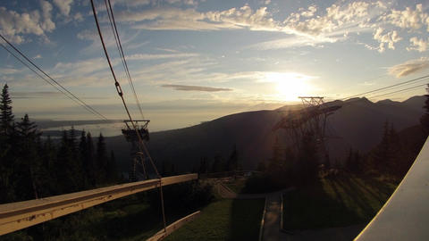 Sunset Timelapse From The Top Of Grouse Mountain Footage