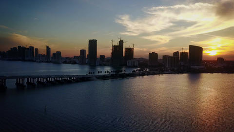 Hyper Timelapse Of A Sunset In Miami, Florida Live Action