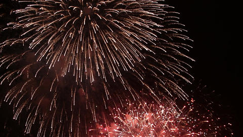 Fireworks display to be launched in summer fireworks display in Japan Footage