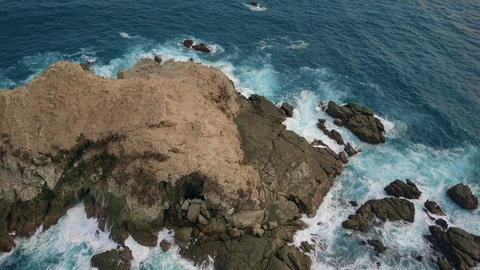 Mini Island Flyover in Manuel Antonio, Costa Rica Footage