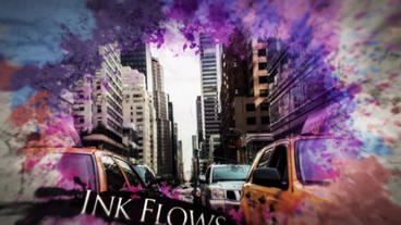 Watercolor Ink Parallax Slideshow After Effects Template