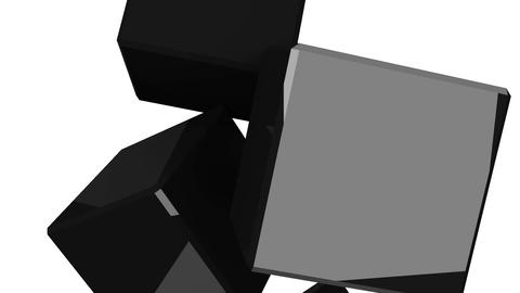 Black Cubes Abstract On White Background CG動画素材