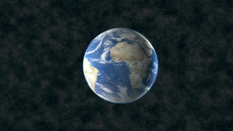 Center earth in space Footage