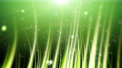 Green grassy particles Footage
