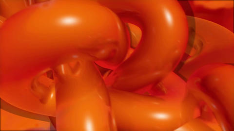 Orange tubes shape rounding Live Action