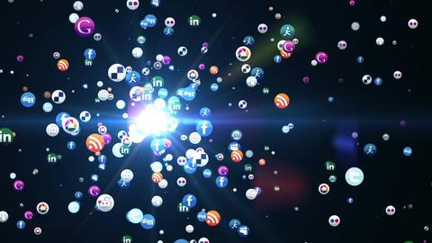 Social media particles Footage
