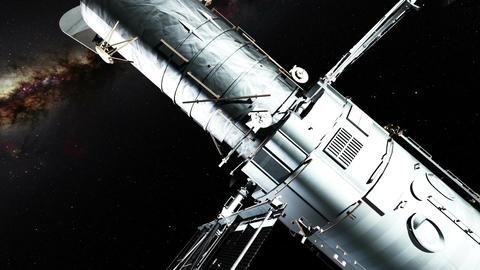 Orbiting telescope Footage