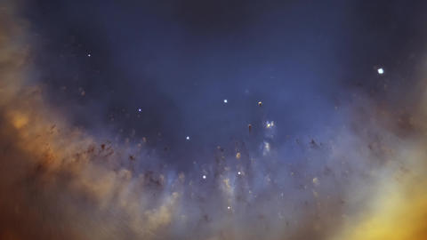 Cosmic Space Nebula Animation Hubble Helix Nebula Stock Video Footage