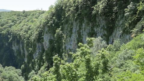 View to the rocks of the deep gorge. Okatse Canyon, near Kutaisi, Georgia Live Action
