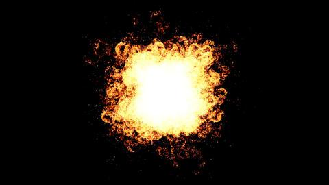 Explosion fire spark on black Footage