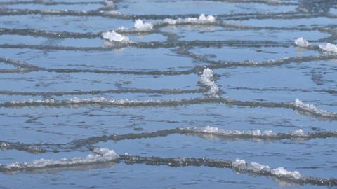 Iced surface of the water Footage
