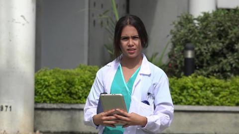 Female Nurse Talking Footage