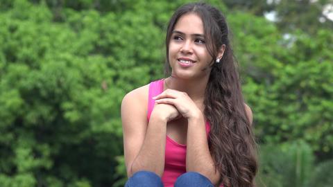 Hispanic Female Teen In Love Live Action