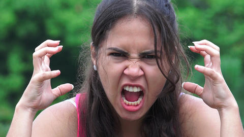 Angry Female Teen Footage