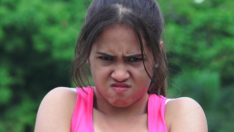 Angry Unhappy Female Teen Footage