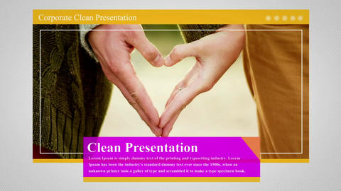Corporate Clean Presentation After Effectsテンプレート
