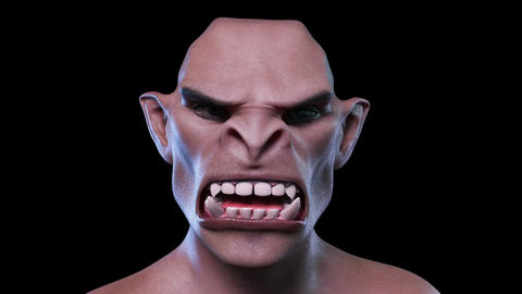 Digital 3D Animation of a morphing male Face, Stock Animation