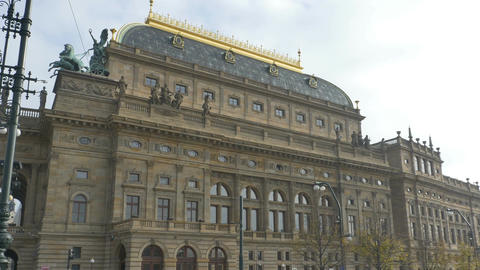 National Theatre in Prague Footage