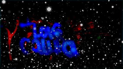 Snowflakes and Acid Graffiti Collision Mix Animation