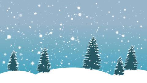 Snowflakes and Trees BG Animation
