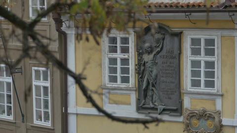 Jan Neruda Bronze Bas-relief Footage