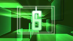 Countdown--Green tunnel CG動画素材