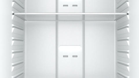 Empty white fridge Animation