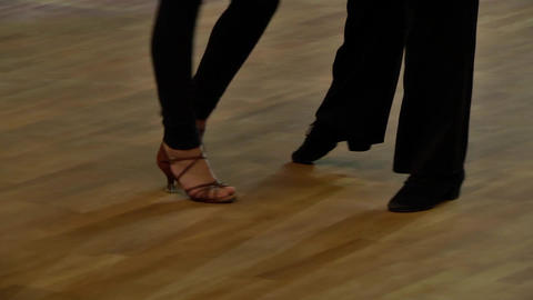 Feets of dancers who perform graceful movements during a competition 15 Live Action
