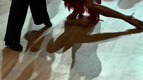 Feets of dancers who perform graceful movements during a competition 13 Live Action