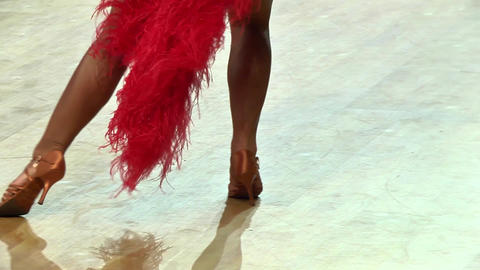 Feets of dancers who perform graceful movements during a competition 27 Live Action