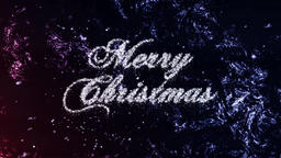 Merry Christmas Loop Particles on Frost Background CG動画素材