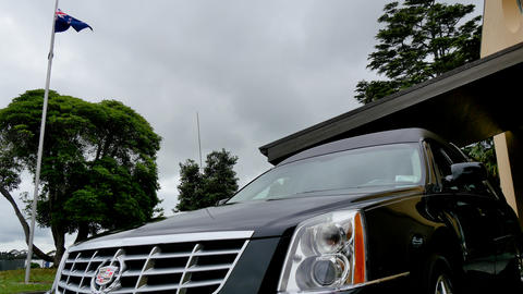 Shot of a hearse for funeral service フォト