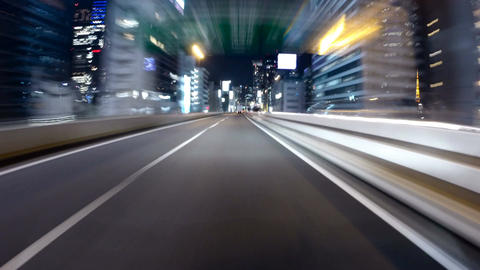 Action hyperlapse on the highway from Shibuya to central ring route ภาพวิดีโอ