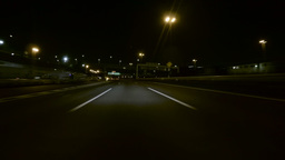 Driver POV exiting the Tokyo Bay Underpass on the highway Footage